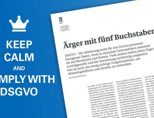 Ärger mit fünf Buchstaben – DSGVO