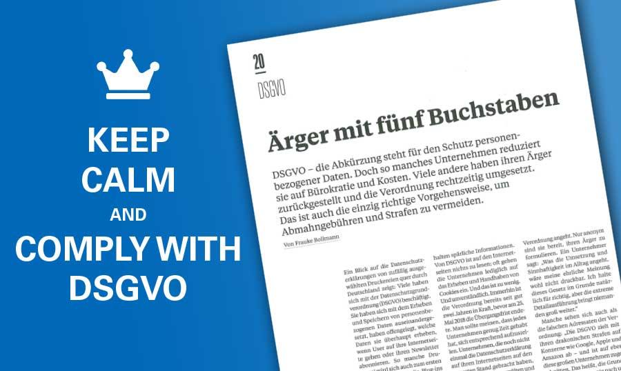 DSGVO - keep calm